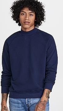 클럽 모나코 맨투맨 Club Monaco Tea Dyed Mock Neck Sweatshirt,Dark Navy