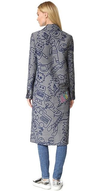 Mira Mikati Robot Jacquard Coat