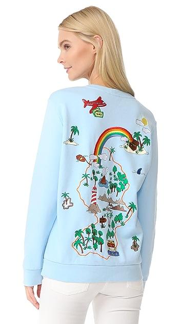 Mira Mikati Lost Boy Embroidered Sweatshirt
