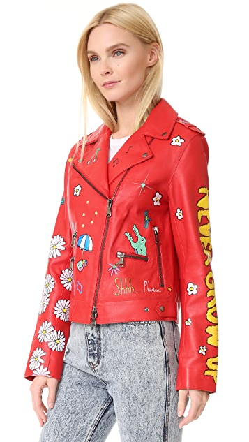 Mira Mikati Hand Painted Never Grow Up Jacket