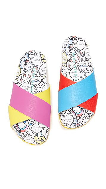 Mira Mikati Rainbow Monster Slides