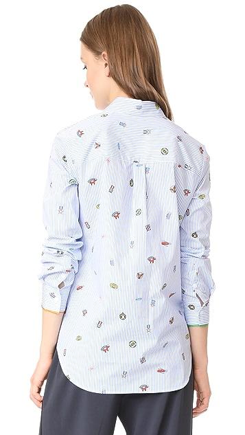 Mira Mikati Icon Print Classic Shirt