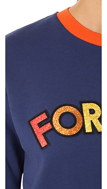 Mira Mikati Forever Or Never Patch Sweatshirt
