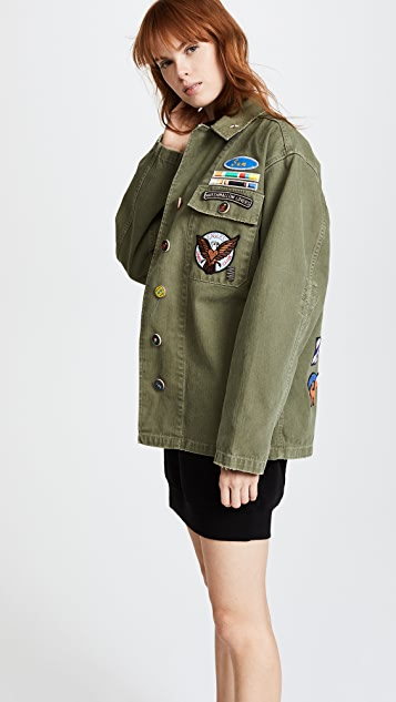 Mira Mikati Scout Patch Shirt Coat