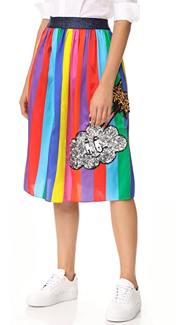 Mira Mikati Monster Sequin Rainbow Skirt