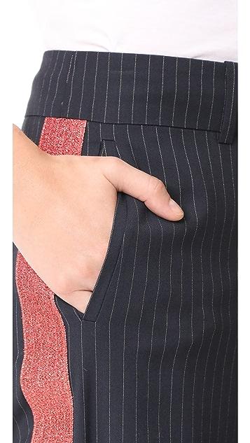 Mira Mikati Широкие брюки с блестящей отделкой
