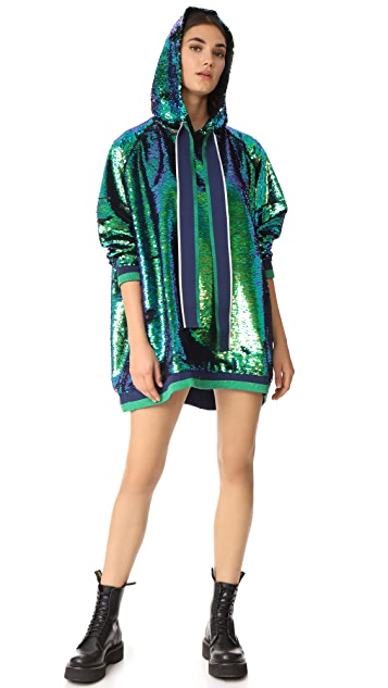 Mira Mikati Oversized Sequin Dress