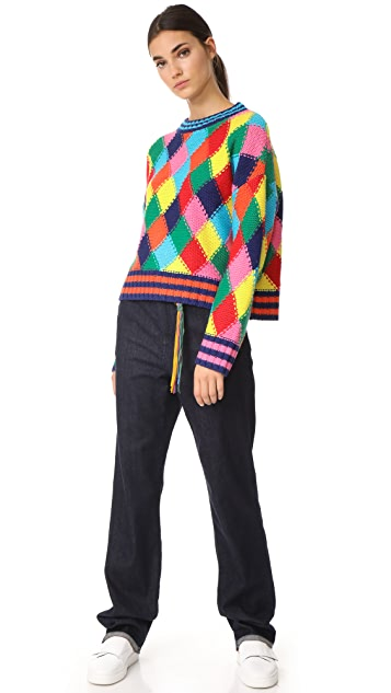 Mira Mikati Diamond Stitch Sweater