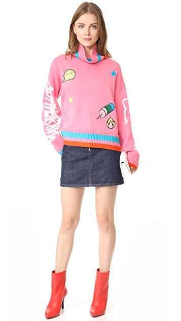 Mira Mikati Marshamllow Lover Pink Sweater