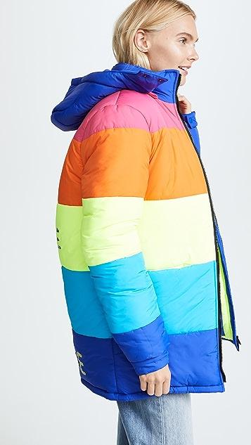 Mira Mikati Nowhere Rainbow Puffer Jacket