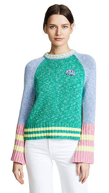 Mira Mikati Patched Cashmere Mix Sweater