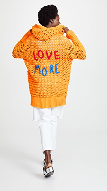 Mira Mikati Love More Hand Crochet Cardigan