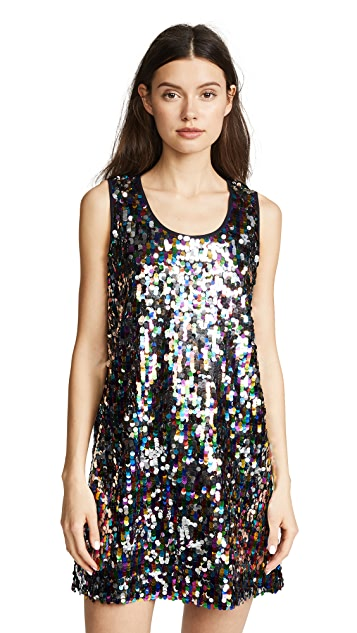 Mira Mikati Sequin Tank Dress