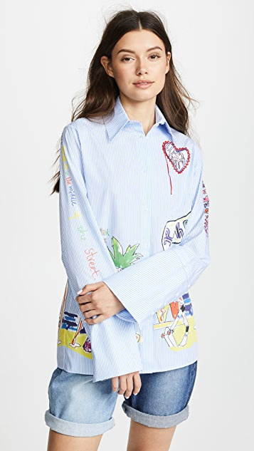 Mira Mikati Digital Collared Shirt