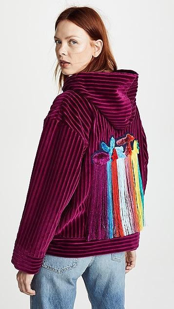 Mira Mikati Velvet Hoodie