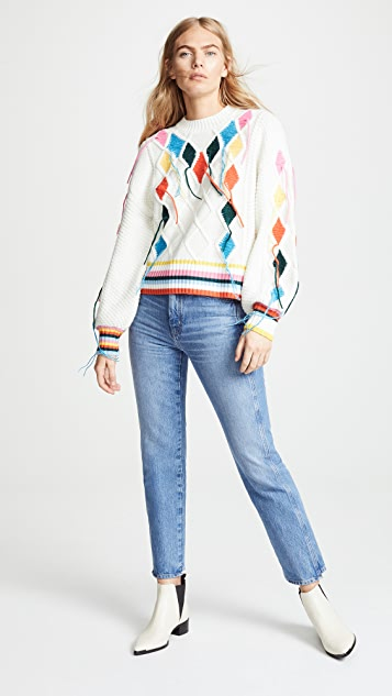 Mira Mikati Cable Knit Sweater