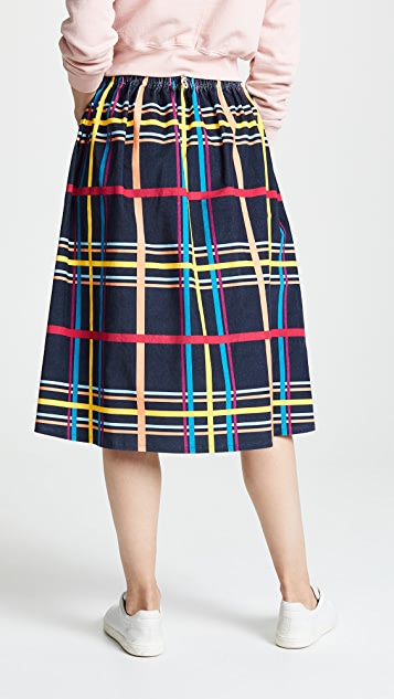 Mira Mikati Plaid Skirt