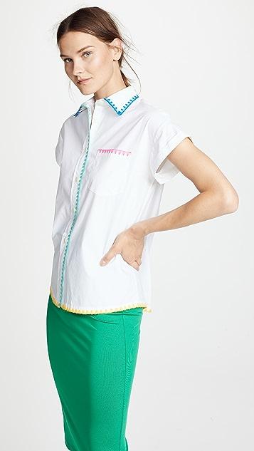 Mira Mikati Blanket Stitch Shirt
