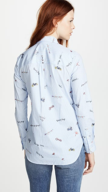 Mira Mikati Icons Printed Striped Shirt