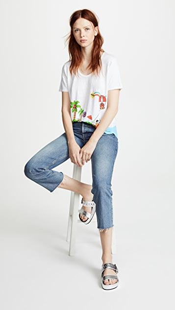 Mira Mikati Happy Beach Print Tee