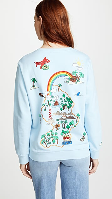 Mira Mikati Lost Boy Embroidered Sweatshirt