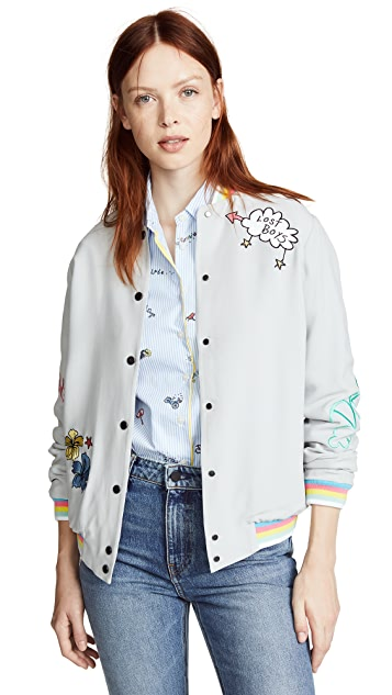 Mira Mikati Lost Boy Embroidered Bomber Jacket