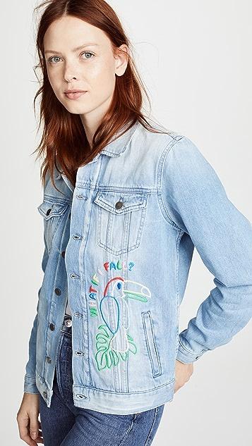 Mira Mikati Candy Bead Parrot Denim Jacket