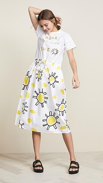 Mira Mikati Sunflower Print Dress