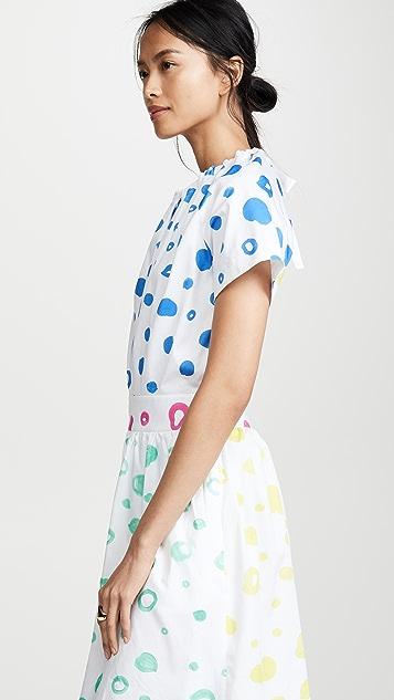 Mira Mikati Платье в контрастный горошек