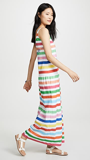 Mira Mikati Striped Sleeveless Dress