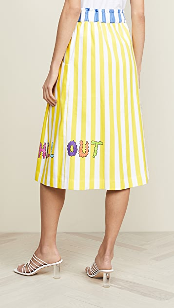 Mira Mikati Striped Linen Skirt