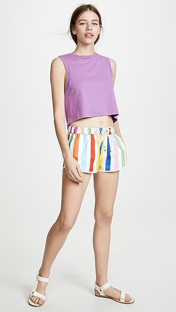 Mira Mikati Striped Shorts