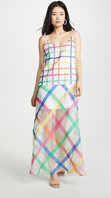 Mira Mikati Платье без рукавов в радужную клетку