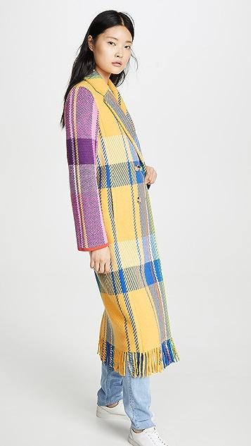 Mira Mikati Шерстяное пальто Jumbo в клетку