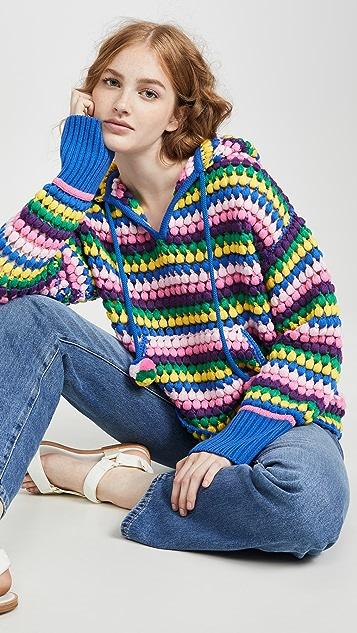 Mira Mikati Knits Wool Striped Hoodie