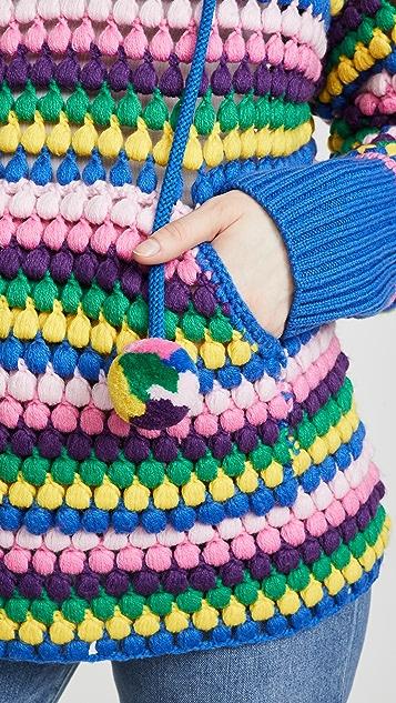 Mira Mikati Шерстяная толстовка с капюшоном в полоску