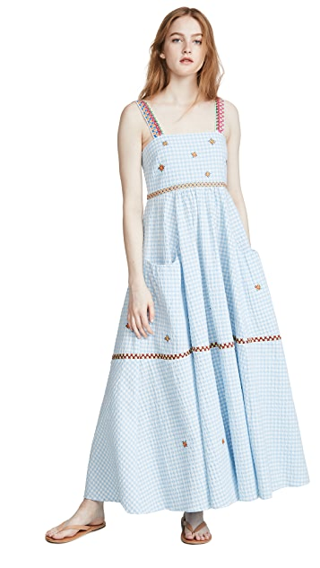 Mira Mikati Yarn Embroidered Cami Dress