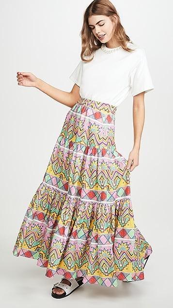 Mira Mikati 三片式拼接半身长裙