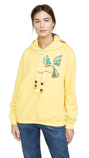 Mira Mikati Sailing Boat Embroidered Hoodie