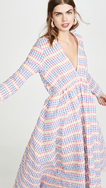 Mira Mikati Deep V Maxi Dress