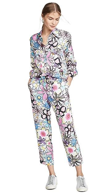 Mira Mikati Bold Line Flower Print Jumpsuit