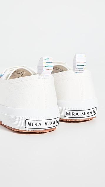 Mira Mikati x Superga 珠饰流苏运动鞋