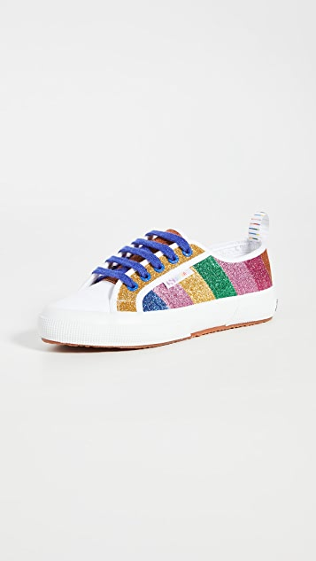 Mira Mikati x Superga Glitter Stripe Sneakers