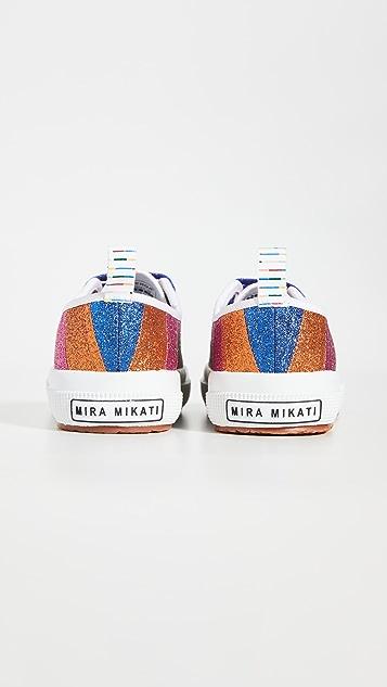 Mira Mikati x Superga 亮片条纹运动鞋