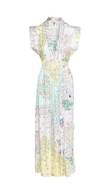 Mira Mikati Bandana Print Midi Dress