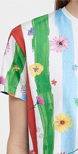 Mira Mikati - 条纹印花 T 恤