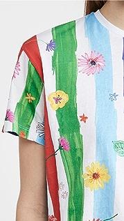 Mira Mikati Striped Print Tee