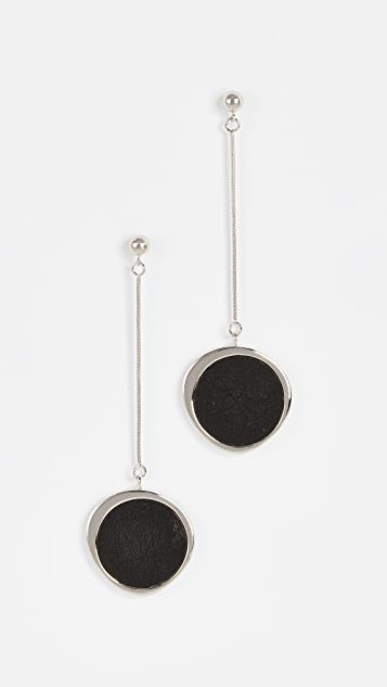 Contempoh Serpentine Stone Earrings