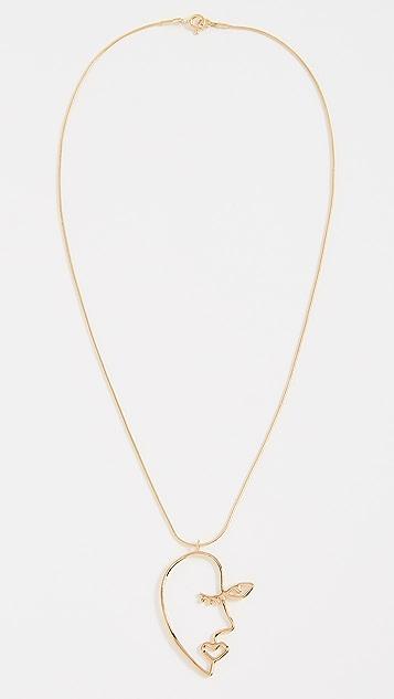 Contempoh Profile Necklace