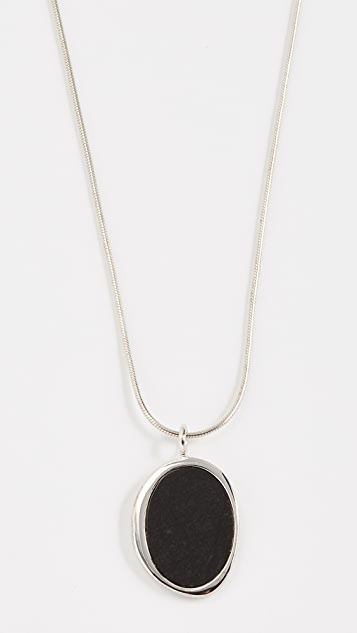 Contempoh Serpentine Stone Necklace